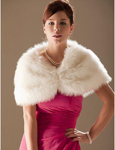 Faux Fur Special Occasion/ Wedding Shawl - GBP £ 12.30