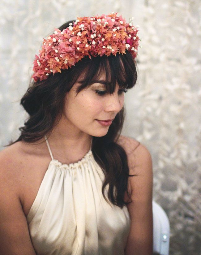 2014 Wedding Trends | Floral Crowns | Beach Wedding Inspiration | Bohemian Oahu Wedding: Alana + Kyle