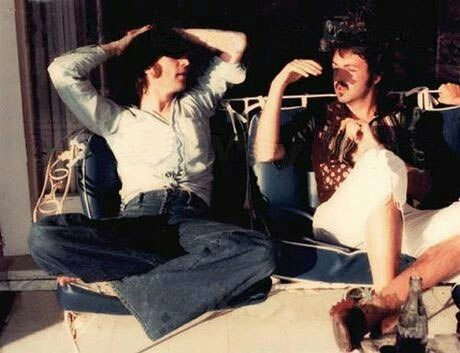 Last known picture of John and Paul together, 1974