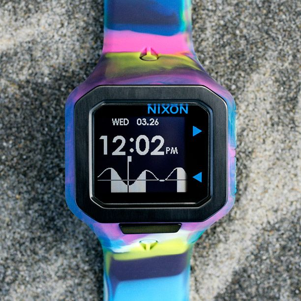 The Supertide watch from the new Marbleized Collection, featured in the new arrivals for summer from Nixon