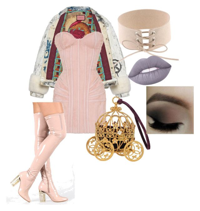 """""""Princess yaz"""" by yasmineings on Polyvore featuring Gucci, Balmain and Lime Crime"""