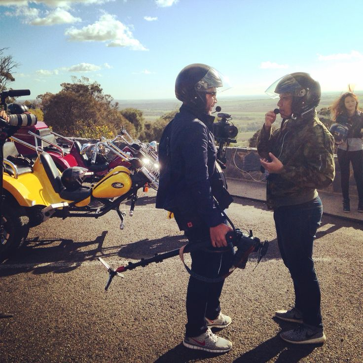 Our trikes with a Malaysian film crew working on a production highlighting the hidden gems of SA.