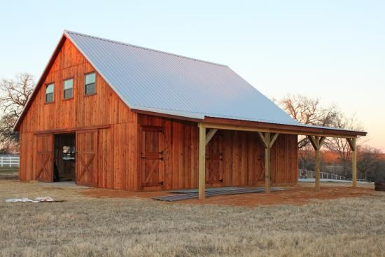 Pole barns barn home horse facility horse stalls for Wood barn homes