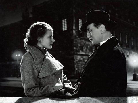 "Bergman starring alongsideGösta Ekman in the director Gustaf Molander's 1936 Swedish film ""Intermezzo."""