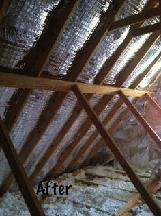 Radiant barrier insulation in the attic... cools down the house in the summer and saves energy!