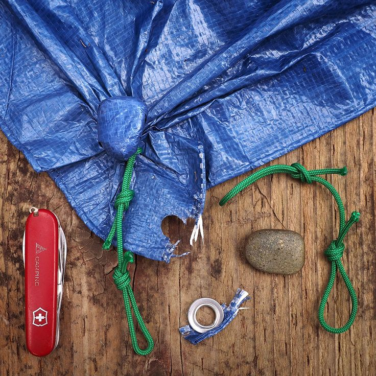Camp Hack #15: Lose a grommet? Twist a rock in the same corner to make a new anchor point. Give the rock a respectable name like Barnaby or Winifred.