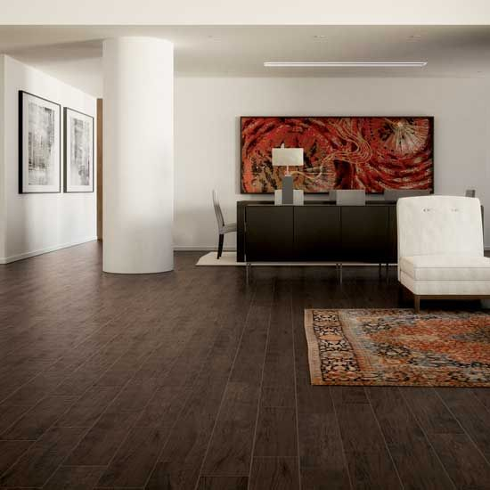 Photo features Ebano 6 x 24 field tile on the floor. - 73 Best Living Areas Images On Pinterest