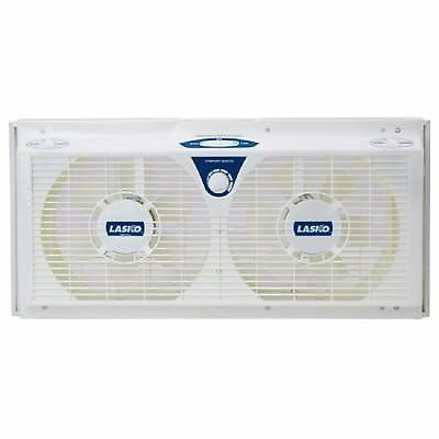 Reversible Twin Window Fan Electrically 8 Inches Thermostat Adjustable Exhaust