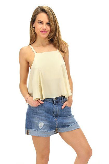 Rapsodia In Nero - Top - Abbigliamento - Top in seta con vestibilità corta, senza maniche.La nostra modella indossa la taglia /EU 40. - BEIGE - € 129.00