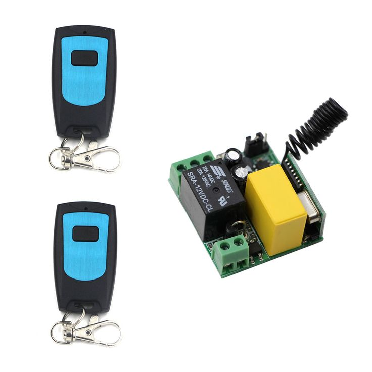 Rf Mini Wireless Remote Control Ac 220 V 1 Ch New 1 Receiver 2 Transmitter Self Lock Affiliate Remote Control Light Light Switch Remote Control