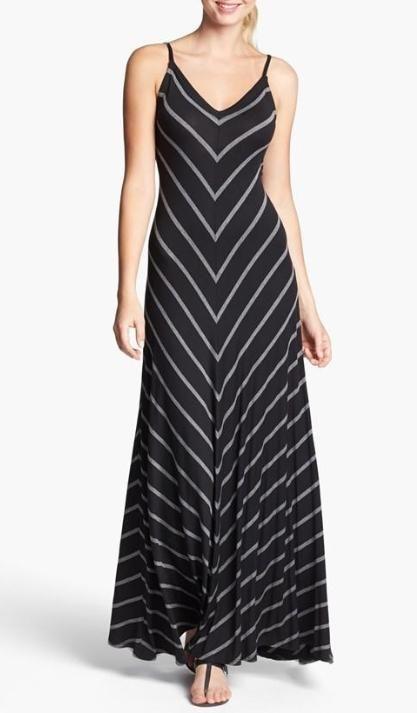 Perfect for your beach getaway - Chevron Maxi Dress