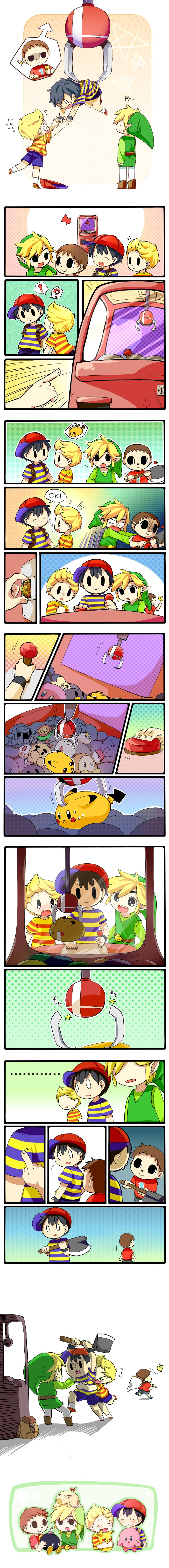 smash bros...I am just like the villager. Claw Crane Game by Creamsouffle.deviantart.com on @deviantART