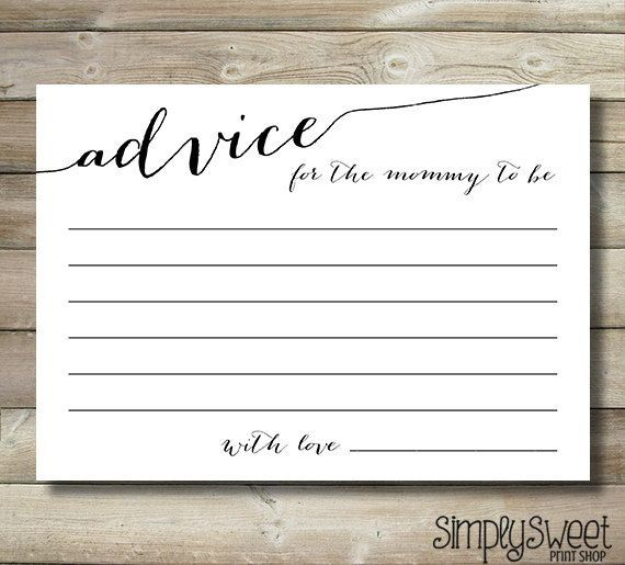 Hey, I found this really awesome Etsy listing at https://www.etsy.com/listing/200785615/baby-shower-advice-cards-for-the-mommy...I LOVE THIS!!!!! If the background looked like old paper, it would be perfect!