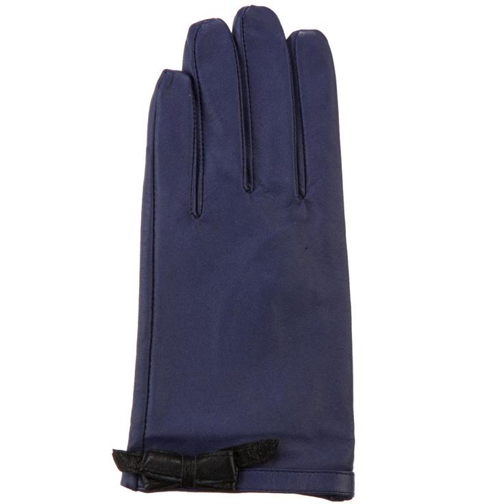 6-Gant. Le violet, une couleur désormais incontournable. Adorable, le petit nœud en cuir qui ourle le poignet.  #Bazarchic