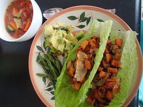 The Yogic Kitchen: Whole30 Vegetarian Day 4: Sweet Potato Tacos (Vegan, Paleo).