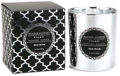 DL CANDLES Electroplated Silver Sandalwood Candle