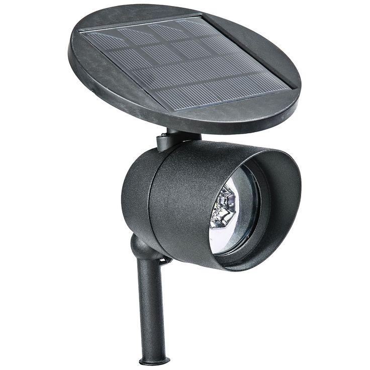 "Marlon 13 1/2"" High Black Aluminum Solar LED Spot Light - Style # 1W933"
