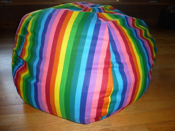 Elephant Bean Bag Chair Cover Pink Elephants Blue Black