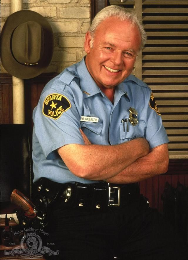 "Carroll O'Connor (as Chief Gillespie in TV's ""In the Heat of the Night"")"