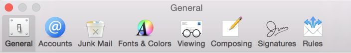 Apple releases OS X Yosemite Developer Preview 6 - New icons for Mail Preferences inside Mail.app