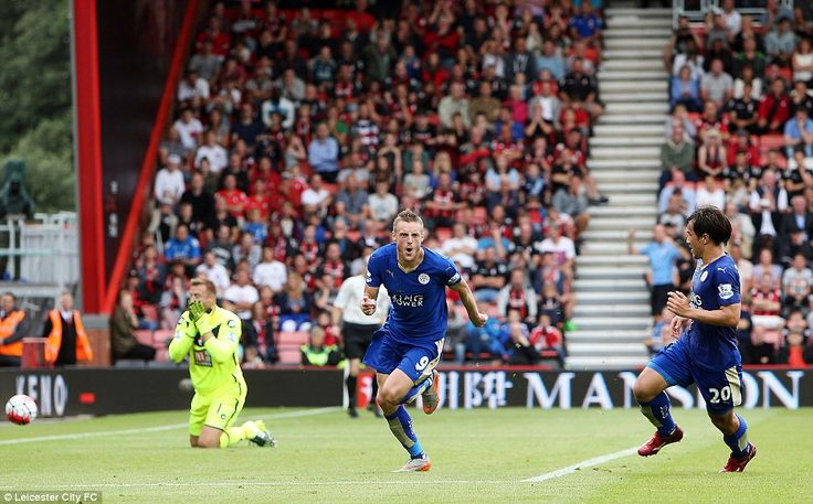 Saturday, August 29. Bournemouth 1-1 Leicester (Vardy) LEAGUE POSITION - 3rd: Leicester had to rely on an 86th-minute penalty to rescue a point at the Vitality Stadium. Ranieri's side conceded after 24 minutes when Callum Wilson scored. Leicester didn't give up, though, and they were rewarded when referee Neil Swarbrick awarded a penalty for Steve Cook's trip on Vardy. The striker scored