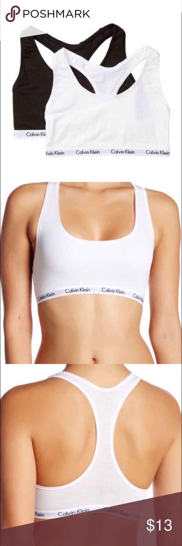 🚨SALE🚨 WHITE CALVIN KLEIN BRALETTE AUTHENTIC WHITE CALVIN KLEIN BRALETTE SIZE M, WORN A FEW TIMES Calvin Klein Intimates & Sleepwear Bras
