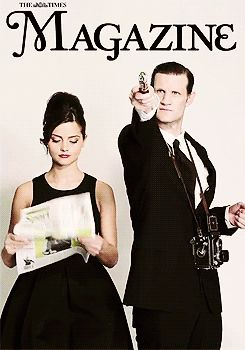 Jenna-Louise Coleman and Matt Smith. #DoctorWho