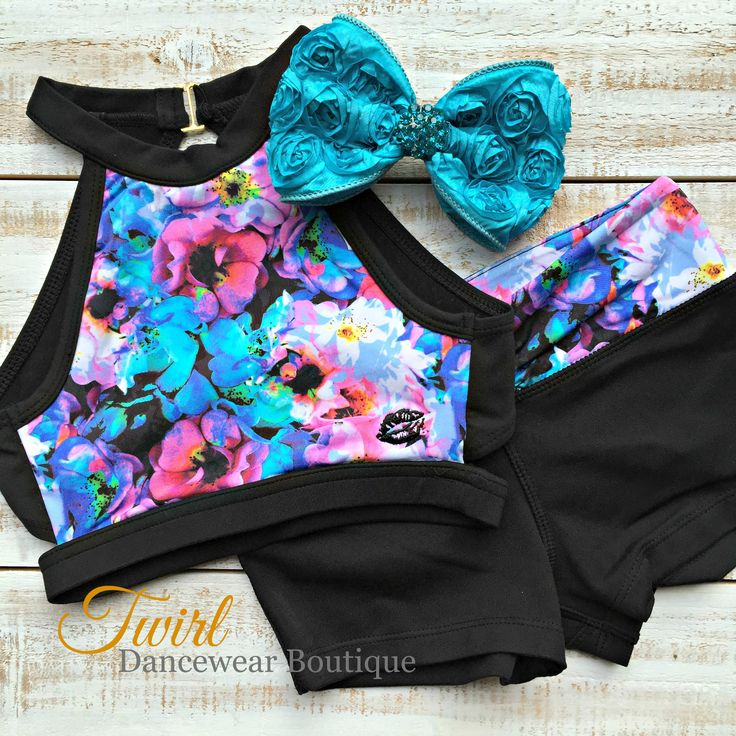 dancewear, dance wear, dance apparel, dance class, dance life, California Kisses Dancewear, Floral dancewear, 2 piece dancewear