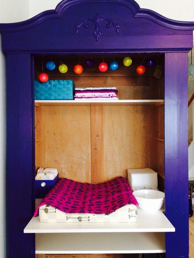 Pusleplads I Skab Changing Station In Closet Homemade