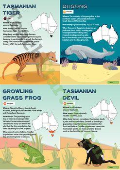 Australian Endangered Animals Poster