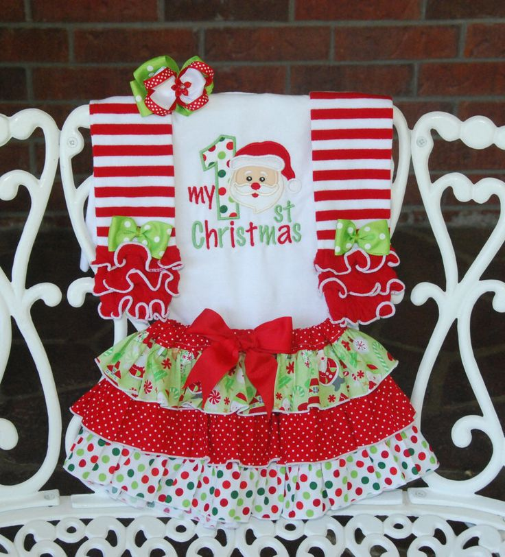 4 pc. Baby Girl Santa Christmas Outfit! My 1st Christmas outfit for baby girls/ Baby Girl First Christmas Outfit/Santa Christmas Outfit by RuffleDarlings on Etsy https://www.etsy.com/listing/242567894/4-pc-baby-girl-santa-christmas-outfit-my