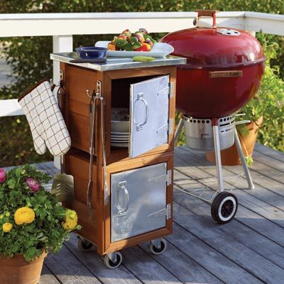 Grill station    Photo: Tria Giovan | thisoldhouse.com | from 37 Easy Ways to Add Storage to Every Room