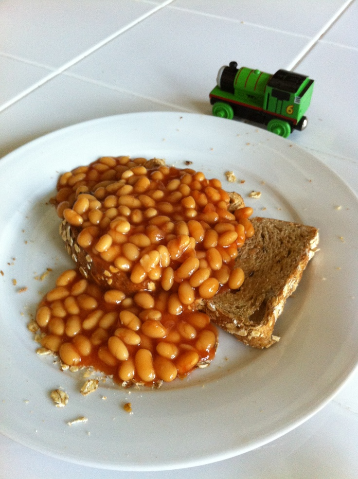 Beans on toast a British classic - makes a great healthy lunch