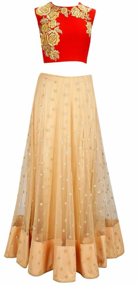 Indo western, Indian outfit, fusion, lehenga, choli, crop top