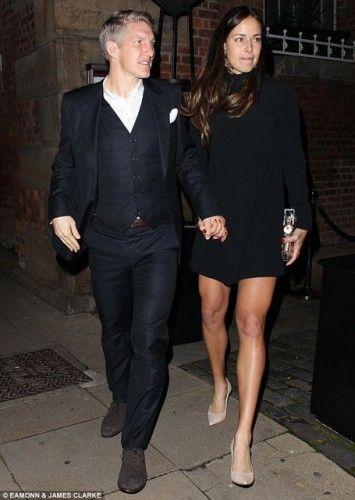 Ana Ivanovic & Bastian Schweinsteiger at Manchester United's party