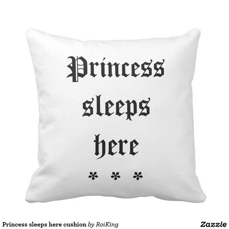 Princess sleeps here cushion