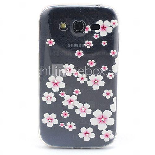 USD $ 3.99 - Samsung Galaxy i9060 grande neo ultrasottili compatibile fiori rosa con diamante disegno TPU caso molle della copertura posteriore