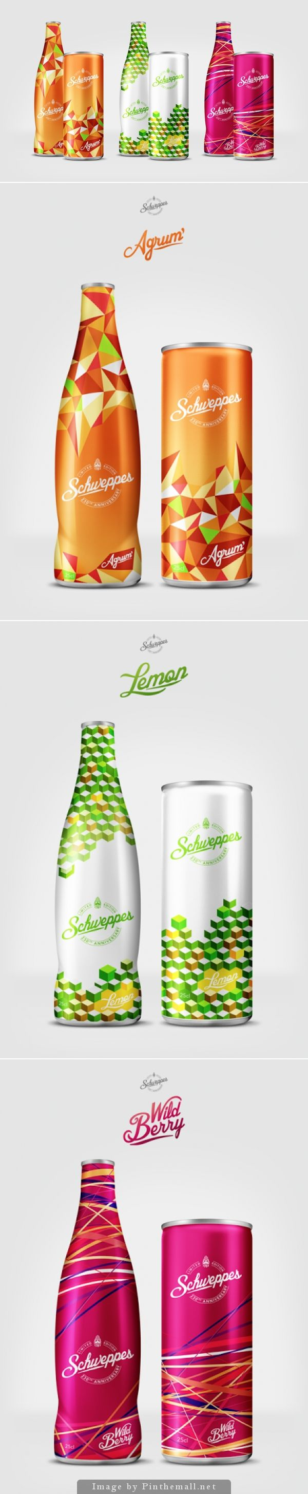 Drink in these summer colors! Schweppes 230 Years (Concept)