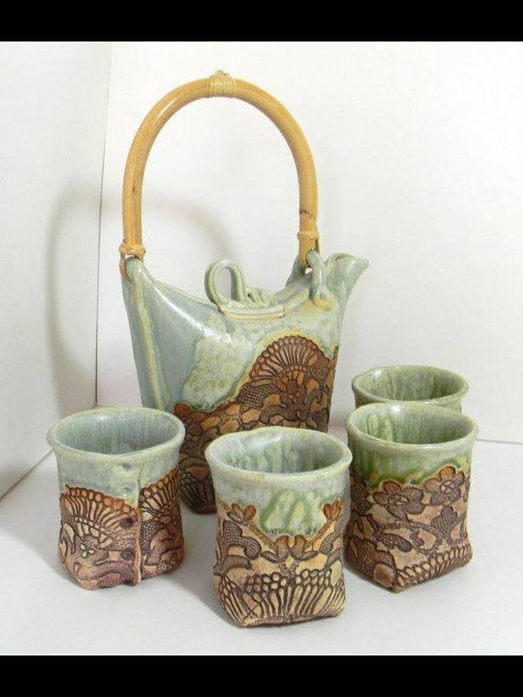70 Best Images About Pottery Tea Set On Pinterest