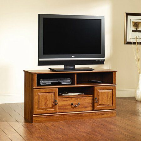 Sauder Pecan TV Stand, for TVs up to 46 inch, Brown