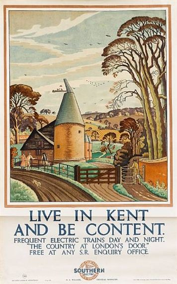 A poster for the Southern Railway, by Ethelbert White (1926). #england