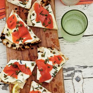 Simple Summer Appetizers | Grilled Smoked Salmon Pizza | CoastalLiving.com