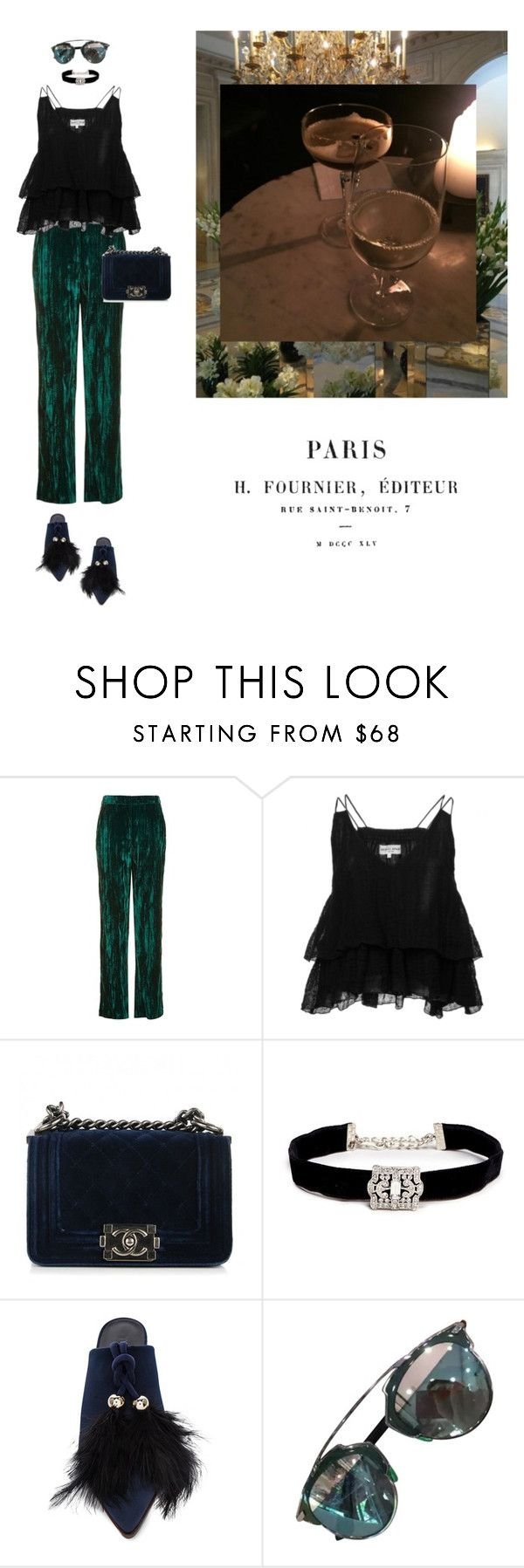 """""""Untitled #2199"""" by yenybarriot on Polyvore featuring Topshop, Apiece Apart, Chanel, Kenneth Jay Lane, TIBI and Christian Dior"""