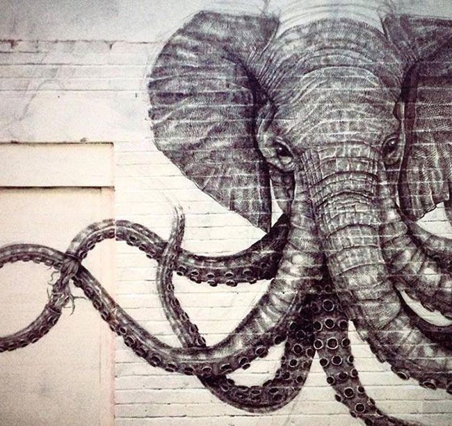 Otto Schade, Dale Grimshaw and La Pandilla street art - Art-Pie