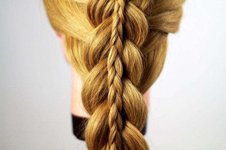 Двойная коса или коса в косе. Double Braiding