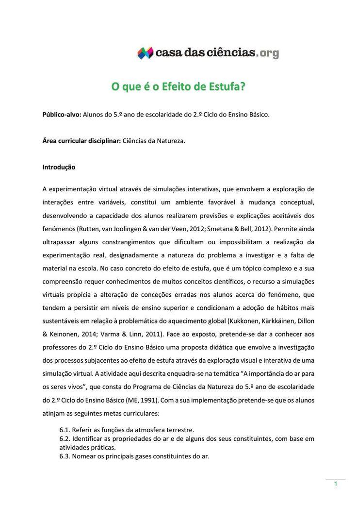 O que é o efeito de estufa  Material da Casa das Ciências disponível para download em: http://www.casadasciencias.org/cc/redindex.php?idart=303&gid=40153392