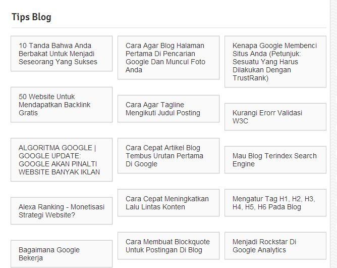 Cara membuat label artikel terkait pada halaman Blog - Master SEO Indonesia