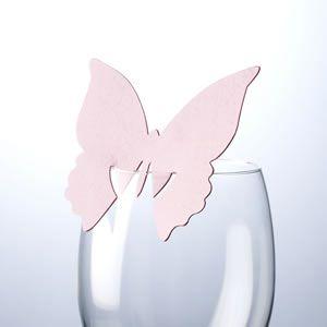 marque place papillon sur verre disponible en plusieurs coloris