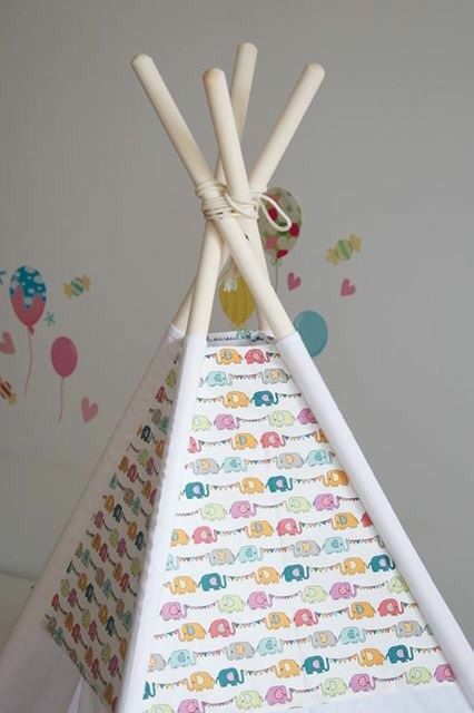 Little colourful elephants kids teepee play tent wigwam with padded floor mat by WigiWama on Etsy & 41 best kids teepee and play tents images on Pinterest | Teepee ...