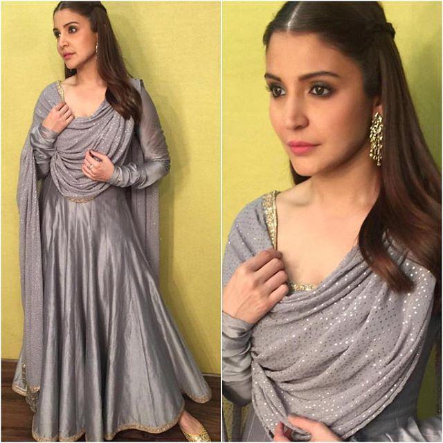 @anushkasharma Outfit - @rimple_harpreet_narula Jewelry - @isharya Juttis - @fizzygoblet Styled by - @alliaalrufai #bollywood #style #fashion #beauty #bollywoodstyle #bollywoodfashion #indianfashion #celebstyle #anushkasharma